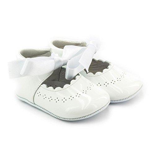 Boni Clémence - Chausson baptême cuir Blanc