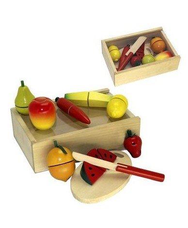 Coffret fruits légumes à découper Jeu Jouet en bois dînette enfant 3 ans +