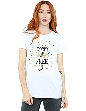 Harry Potter Mujer Dobby Is Free Camiseta del Novio Fit