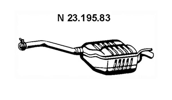 Ebersp/ächer 23.195.83 Endschalld/ämpfer