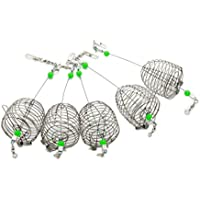 Evilandat cebo de pesca jaula trampa alimentador Cesta Titular Lure Fish Accesorios