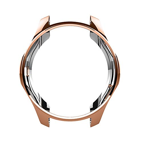 hahuha SmartWatch Case  TPU Plating case for Samsung Galaxy Watch (46mm) (Rose Gold) (Gold Watchs Für Kinder)