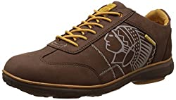 Redchief Mens Dark Brown Leather Trekking and Hiking Footwear Shoes - 7 UK/India (40.5 EU) (RC2893)