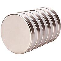 Imán de neodimio de 25 mm de diámetro x 3,5 mm de espesor con 6 kg de imán súper fuerte (paquete de 6)