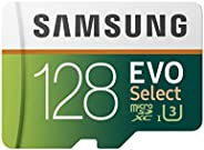 Samsung 128GB 100MBs U3 MicroSD EVO Select Memory Card with Adapter