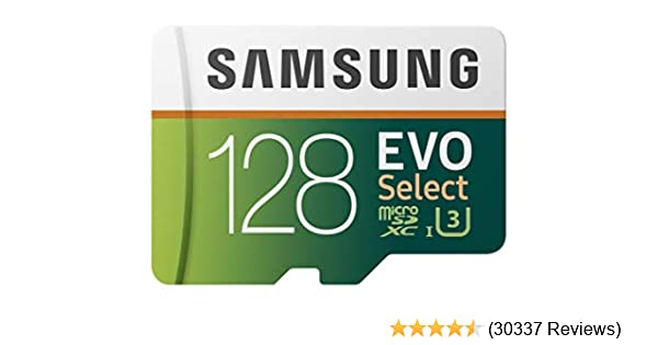 Samsung EVO Select MB-ME128GA/AM 128GB MicroSDXC Memory Card with Adapter