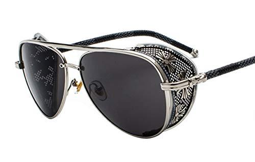 Jasbo Ideal Für Städtetouren Acetat-Material Oversized Freizeit Brille Anti-Strahlung Brillen Outdoor UV (Schwarz)