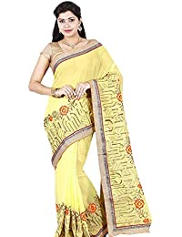 ec72cd12c6 Classicate From The House Of The Chennai Silks - Printed Georgette Saree -  Yellow - (