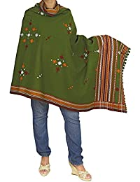 Indian Shawl for Women - Handmade Embroidered Cashmere Wrap for Girls 84x36 Inch
