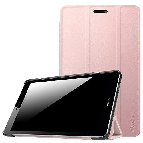 Fintie Huawei Mediapad T3 8 Hülle Case - Ultra Dünn Superleicht SlimShell Ständer Cover Schutzhülle Tasche mit Zwei Einstellbarem Standfunktion für Huawei T3 20,3 cm (8,0 Zoll), Roségold
