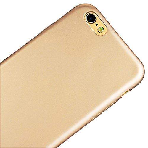 Custodia per iPhone 6/6S , GrandEver TPU Flessibile Ultra Sottile Gel Silicone con Impact Absorbing GommaAnti Scivolo Anti-urto Protettiva Bumper Cover Case - Rosso Oro