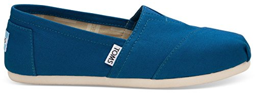 Toms Classic Cobalt Womens Canvas Espadrilles Slipons Shoes-5