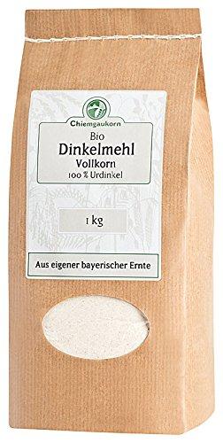Chiemgaukorn Bio Dinkelmehl Vollkorn 1 kg, Urdinkel (Bio-vollkorn-mehl)