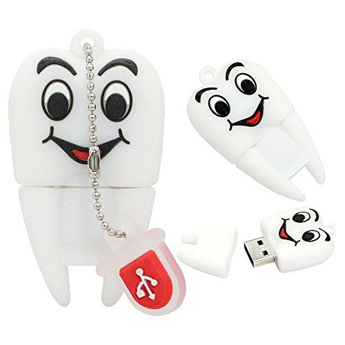 Chiavetta usb da 4 gb novità novità cute cute face dente forma usb 2.0 dati memory stick pen drive unità disco
