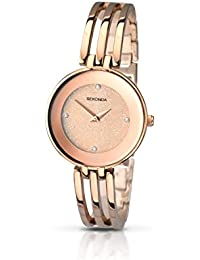 Sekonda Women's Quartz Watch with Gold Dial Analogue Display and Gold Bracelet 2108.27