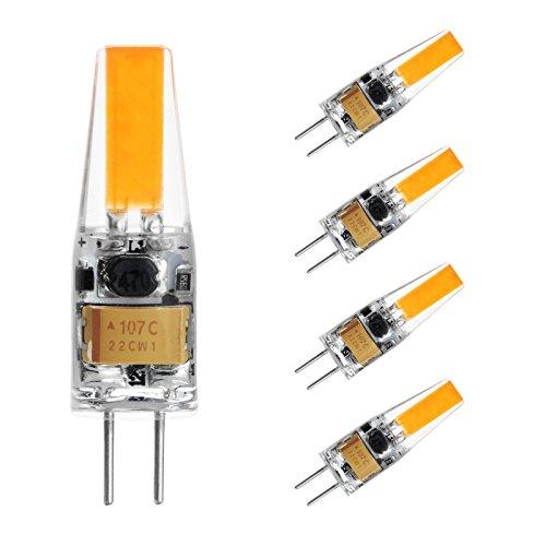G4 LED Lampe Birne - Ascher 4er-Pack G4 LED Leuchtmittel 2W 210 Lumen [Ersetzt 20W Halogen, AC/DC 12V, Warmweiß, 360° Abstrahlwinkel] G4 LED Leuchtmittel