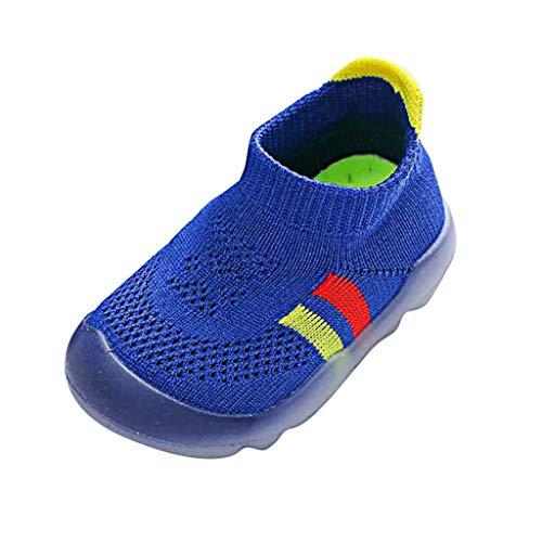friendGG✿Neue MäDchen Jungen Stripe Cute Kleinkind Kleinkind Little Kids Gestrickte Atmungsaktive Schuhe