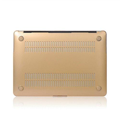 YiJee Cover Laptop Colore del Metallo Custodia Shell Rigida per Macbook Air 11.6-15.4 Pollici 15.4re Inch Oro