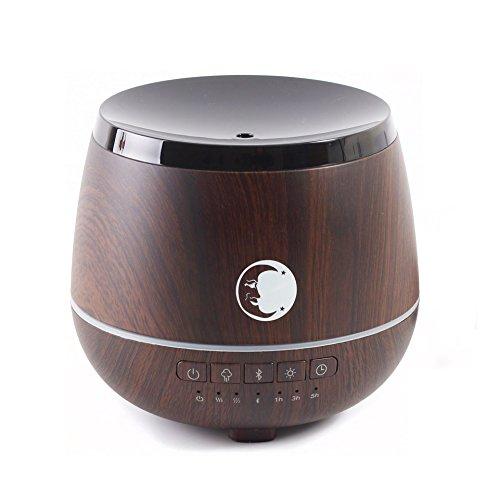 Mystic Moments   legno   aromaterapia ad ultrasuoni diffusore con altoparlante Bluetooth e luci LED