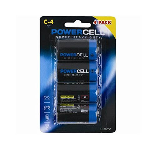 Price comparison product image 4 x C Powercell Batteries Heavy Duty Mercury Free LR14 Professional Alarm.