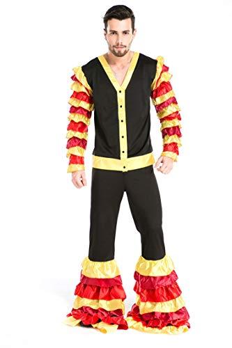 Simmia Halloween Kostüm,Männlicher Erwachsener Leistung DS Zirkus Stierkampf Halloween-Kostüms, 8671, - Männliche Zirkus Kostüm