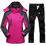 Skianzug Winter Für Frauen Outdoor Sport Wasserdicht Winddicht Snowboard Jacke Hosen Weiblichen Schnee Skifahren Fleece Kleidung Sets