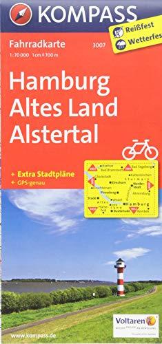 KOMPASS Fahrradkarte Hamburg, Altes Land, Alstertal: Fahrradkarte. GPS-genau. 1:70000: Fietskaart 1:70 000 (KOMPASS-Fahrradkarten Deutschland, Band 3007)