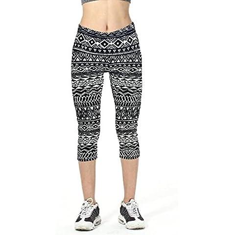 Pantalones mujer deporte Sannysis YOGA Pantalones, Legging Mallas para mujer (02, L)