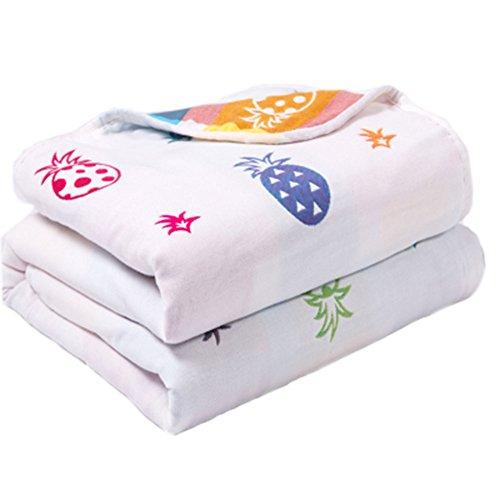 Weiche Baumwoll-Gaze-Baby-Tuch-Decke Kleinkind-Decken bedeckte Decke 110x110cm (Ananas) (Gaze Petite)