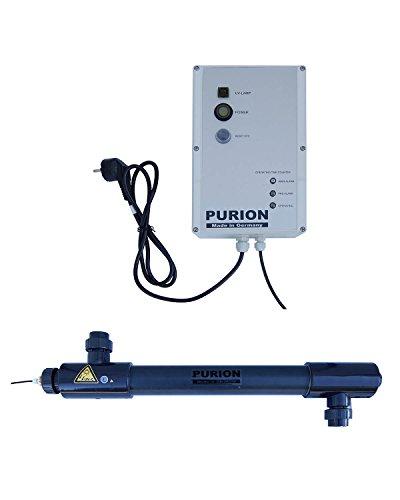 Purion 2501 UV UV UV UV UV-C eau salée plus propre jusqu'à 60m³ stérilisateur PVC-U avec surveillance de la durée de vie