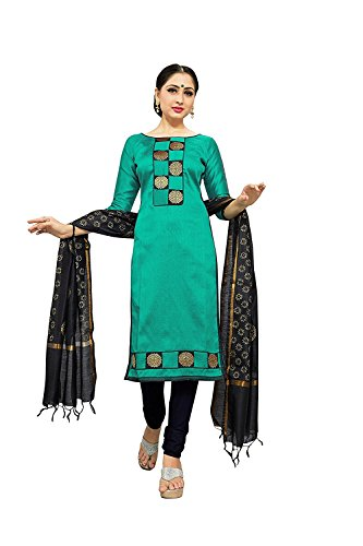 Crazy Women's Silk Salwar suits for women Semi Stitched (Sky)