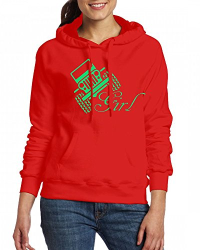 Jeep Girl Womens Hoodie Fleece Custom Sweartshirts Red