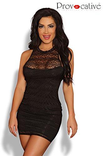 provozierend pr4590Kleine/Mittel Schwarz Neckholder Open Back Sexy Spitze Kleid (Open Back Lace Kleid)