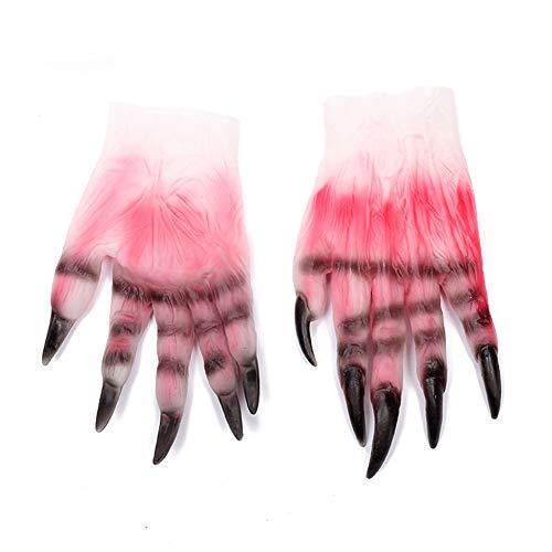 Halloween Kostüm Party Requisiten Hochwertige umweltfreundliche Latex Material Terror Devil Cosplay Zombie Blut Handschuhe