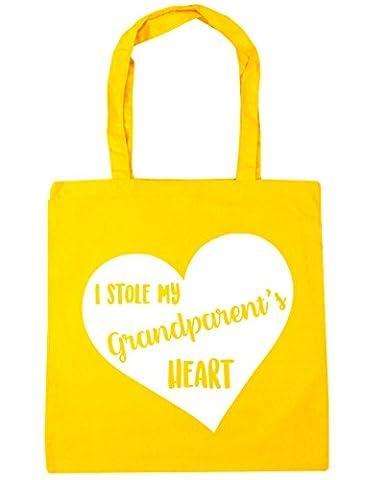 HippoWarehouse , Damen Strandtasche Gr. One Size, gelb (Yellow Moses Basket)