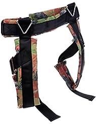 Gazechimp Arnés de Protección para Niños de Bungee con Cintura Pierna Ajustable Hebillas de Avanzada Resistencia Asistencia Equipo Durable Ligero - Negro