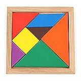 swiftt Kinder Holz Multicolor Tangram Früherziehung Spielzeug Reise- & Kompaktspiele