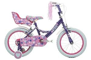 """Raleigh Krush 16"""" Girls Bike in Purple"""