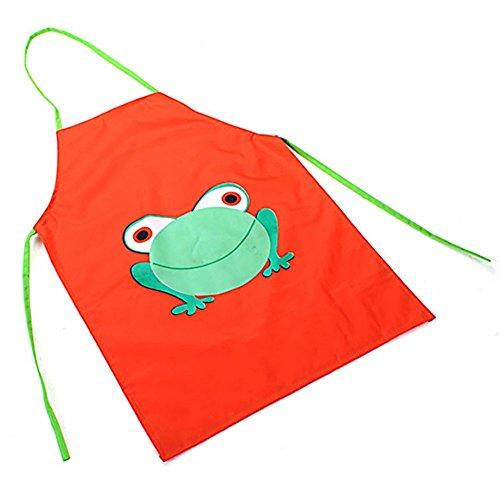 Tankerstreet - Tabliers de cuisine étanches pour enfants de 2 à 7 ans en PVC pour la cuisine, la peinture - Roses