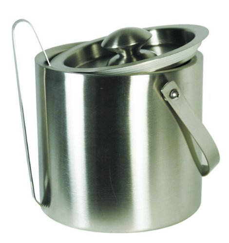 2.5 Quart Ice Bucket (Grant Howard 50335 Brushed Stainless Double Wall Ice Bucket with Tong/Lid/Carry Handle, 2-1/2-Quart by Grant Howard)
