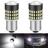 KaTur 1156 BA15S 7506 1073 1095 1141 Ampoule LED 900 Lumens 3014 78SMD Lentille LED Ampoules pour feu Stop Clignotant Feu arrière Feu de recul, Blanc Xenon (Pack de 2)