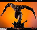 Gaming Heads- God of War Kratos on Throne Figurine, 5060254181233, 74 cm