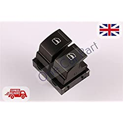 GOLF MK5 - PLUS PASSAT B6 EOS JETTA CADDY POWER MASTER WINDOW SWITCH CONSOLE