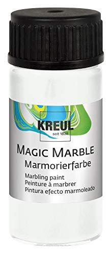 KREUL 73201 Magic Marble Marmorierfarbe, 20 ml, weiß