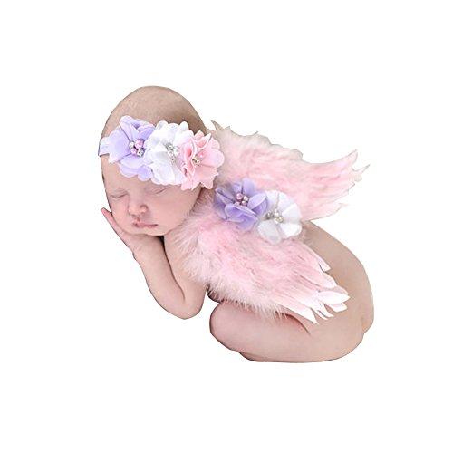 EQLEF® Lovely Baby Engels-Feder-Schmetterlings-Flügel Neugeborenes Foto Prop-Haar-Accessoires
