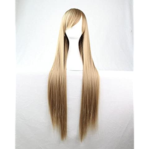 81,28 cm 80 cm de calor para la cocina resistentes al sol y al de pelo de seguridad para anclaje en de apoyo recta de para adultos peluca larga y