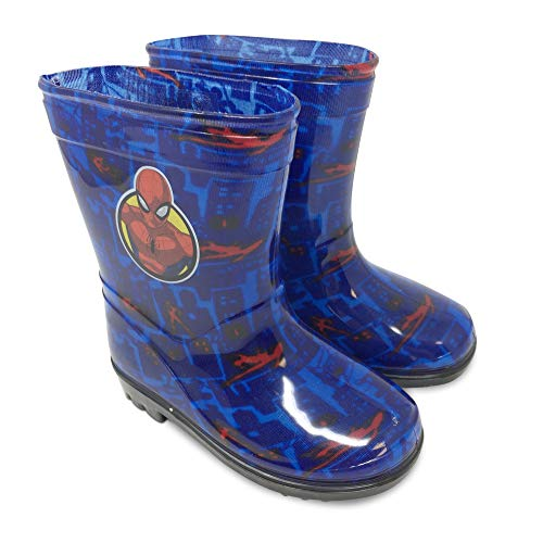 Wellies Officially Licensed Marvel Spider-Man Blue Wellington Boots Welly