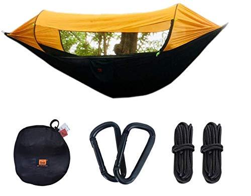Collun Upgrade-Camping-Hängematte mit Moskitonetz, automatische Geschwindigkeitsöffnung, Sonnenschutz, Anti-Moskito, 2 Personen, Ultraleicht, tragbar, für Outdoor, Wandern, Rucksackreisen, Reisen