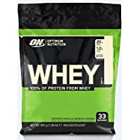 Optimum Nutrition ON Whey Protein Pulver. Zuckerarmes Eiweisspulver von ON -  Vanilla, 33 Portionen, 0,9kg