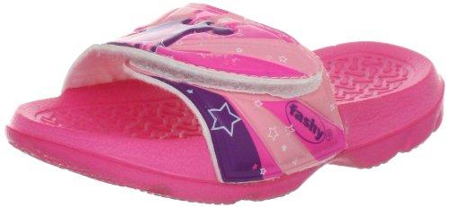 Fashy Mädchen Kleinkinder-Pantolette mit Klettverschluss Dusch- & Badeschuhe, Pink (Pink 43), 24 EU